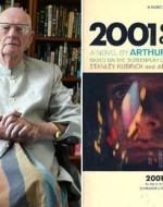 """Arthur C. Clarke e il frontespizio della prima edizione Usa di """"2001: A Space Odyssey"""""""