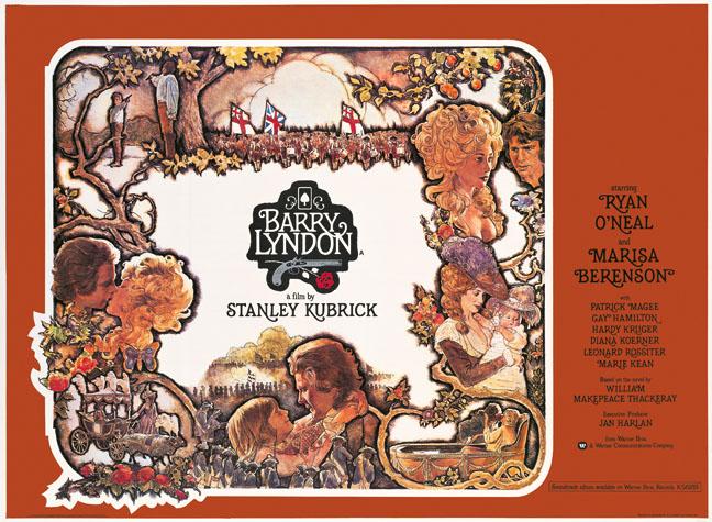 Barry Lyndon di Kubrick – Manifesto della prima edizione inglese