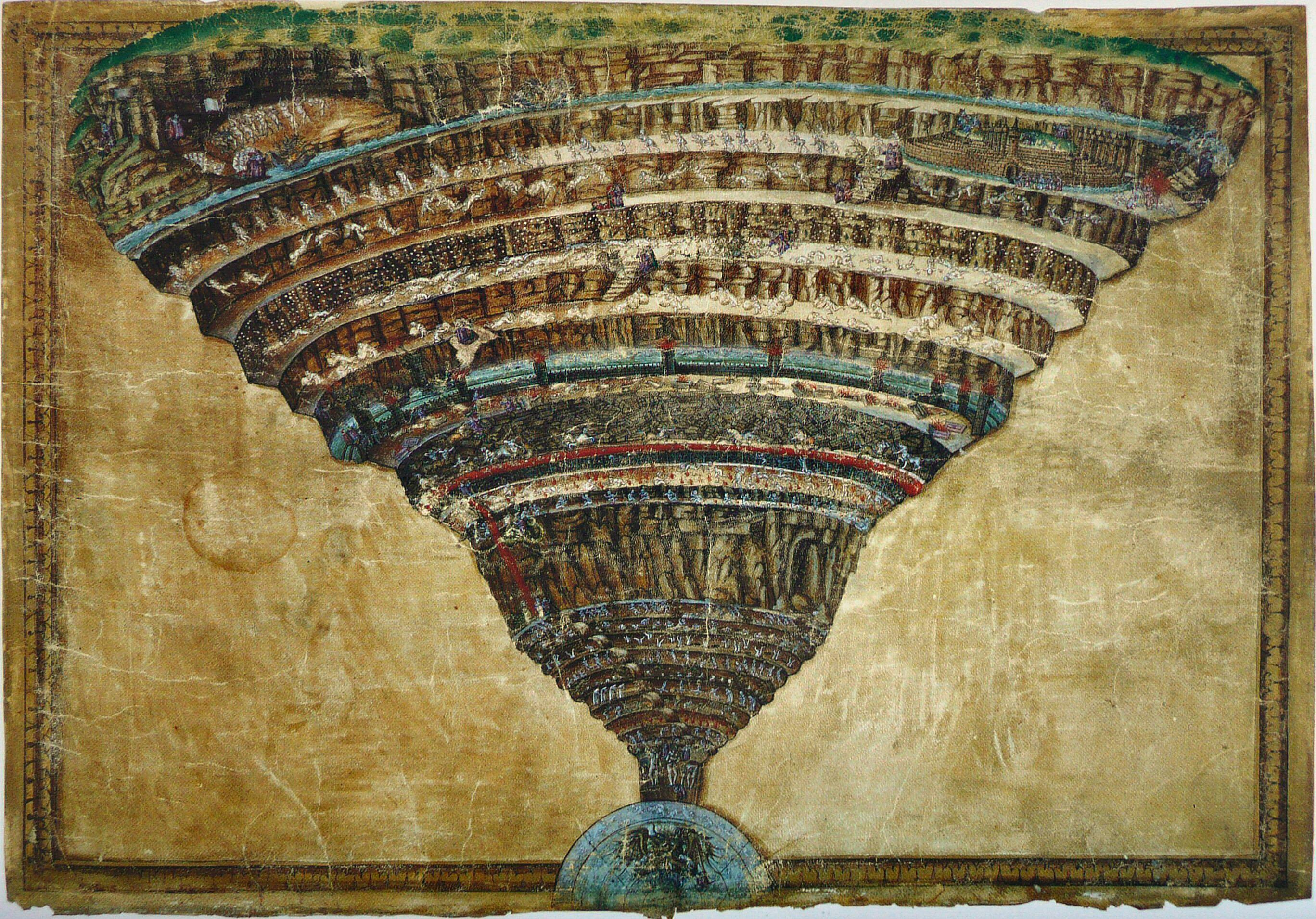 La Divina Commedia di Dante Alighieri illustrata da Botticelli – Edizione 1946