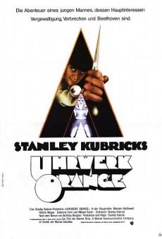 Uhrwerk Orange (A Clockwork Orange; Arancia meccanica) – Manifesto della prima edizione tedesca