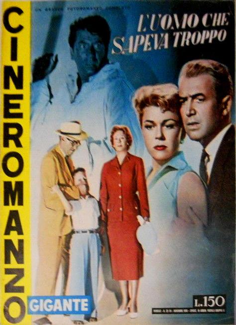 """L'uomo che sapeva troppo – Cineromanzo in """"Cineromanzo Gigante"""", n.23/24, novembre 1956"""