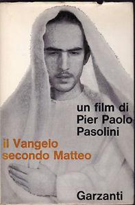 Il Vangelo secondo Matteo di Pier Paolo Pasolini – Sceneggiatura Garzanti – Copia con dedica autografa di Enrique Irazoqui