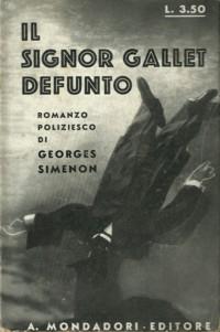 Il signor Gallet defunto (M.Gallet, décédé) – Prima edizione italiana