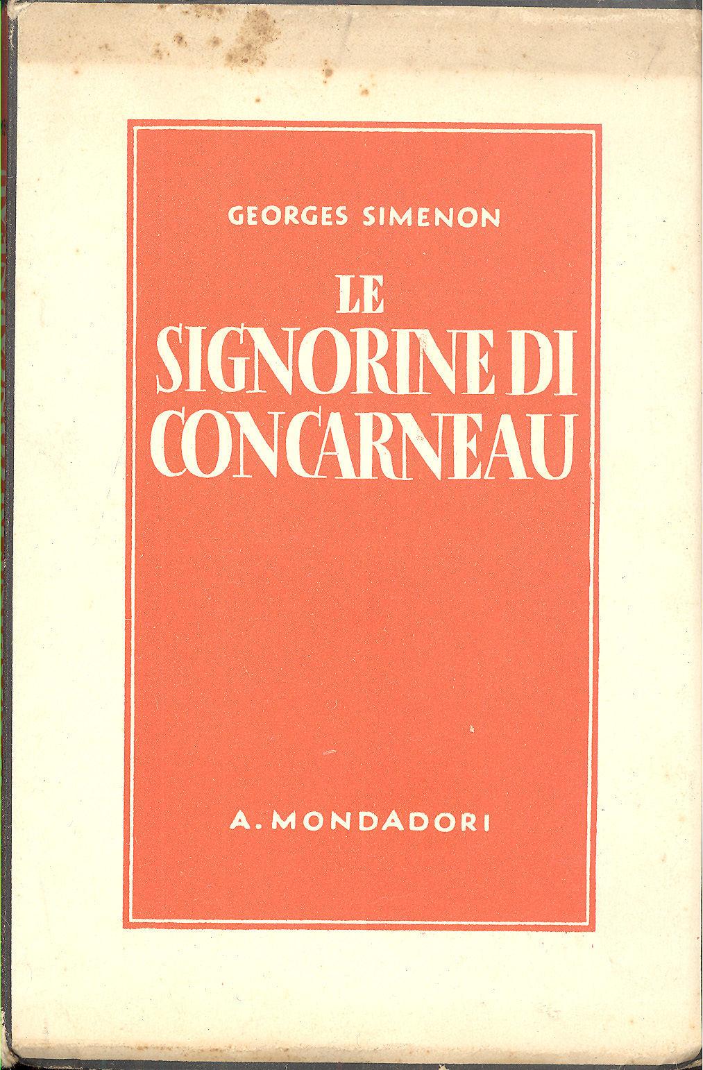 Le signorine di Concarneau (Les demoiselles de Concarneau) di Georges Simenon – Prima edizione italiana