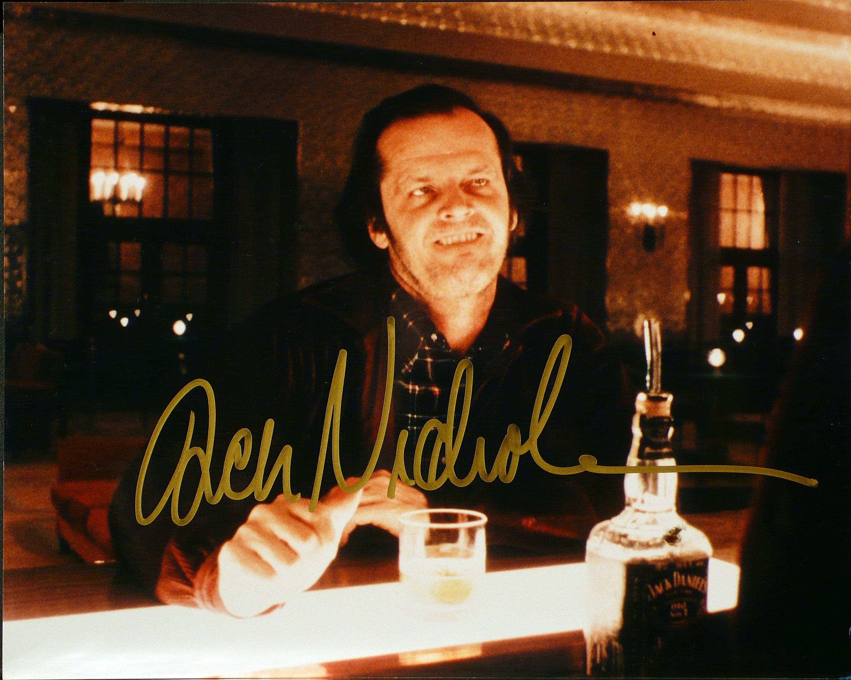 The Shining – Lobby card con autografo di Jack Nicholson