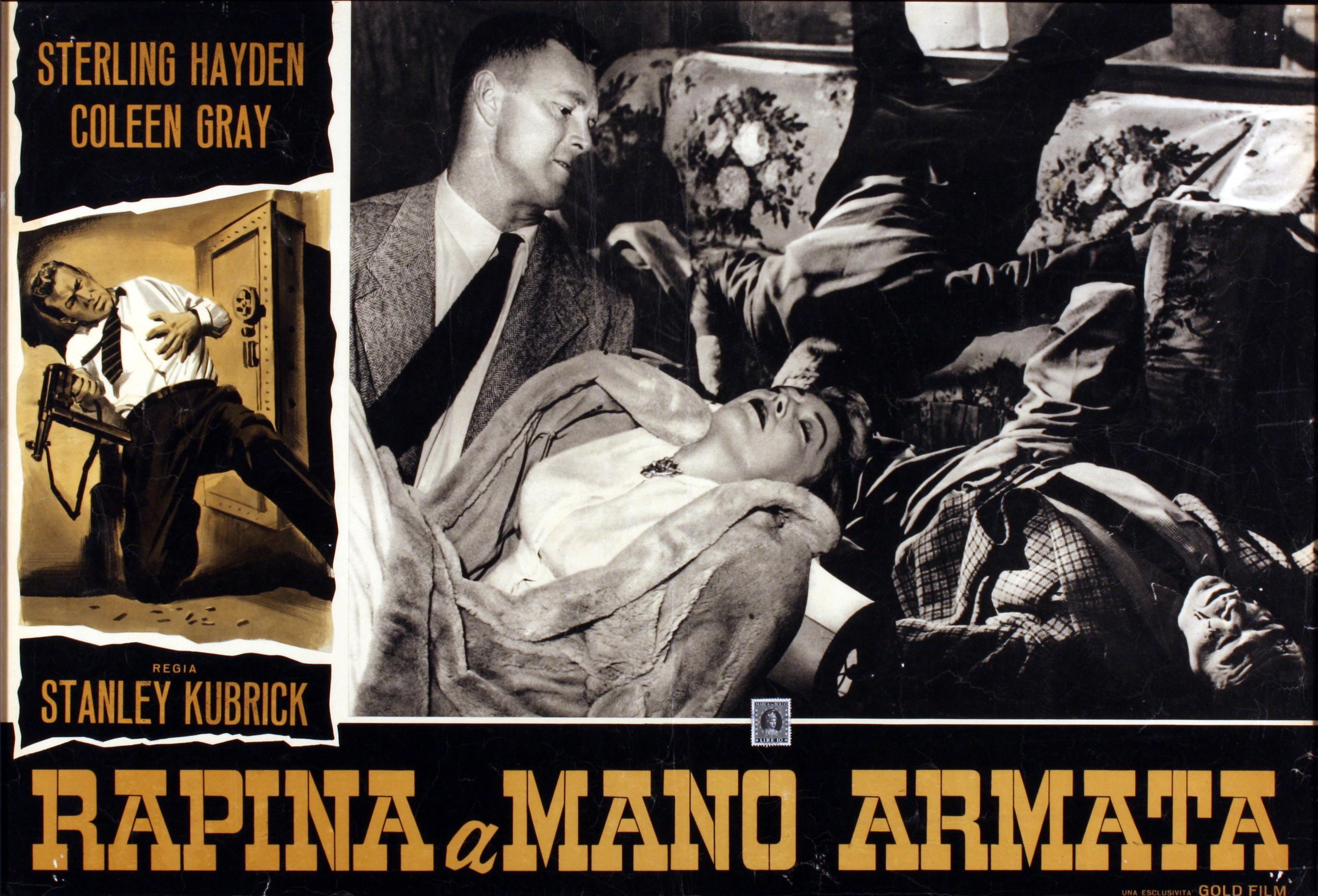 Rapina a mano armata (The Killing) di Stanley Kubrick – Fotobusta della Goldfilm Anni '50