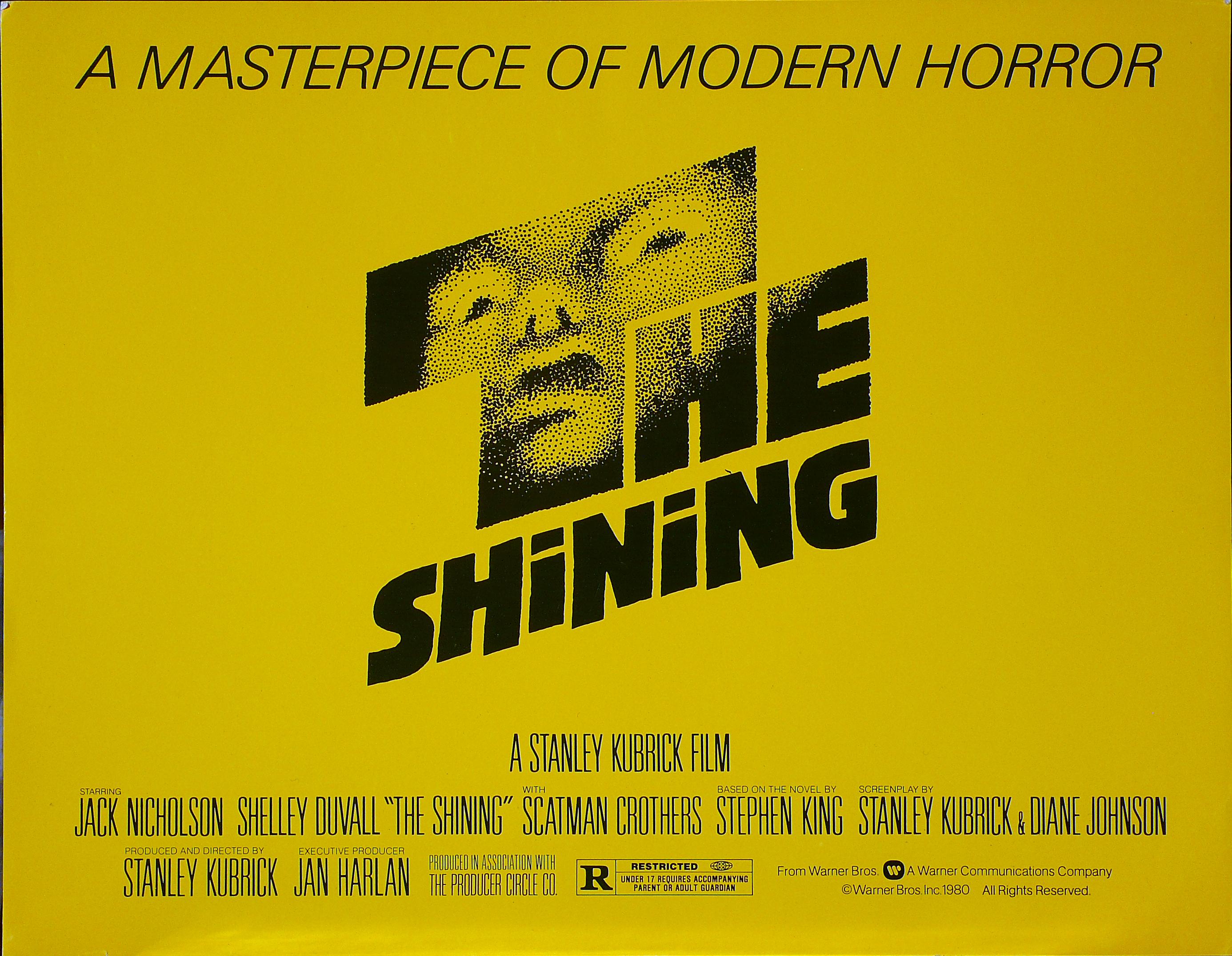 The Shining – Lobby Card della prima edizione americana (by Saul Bass)
