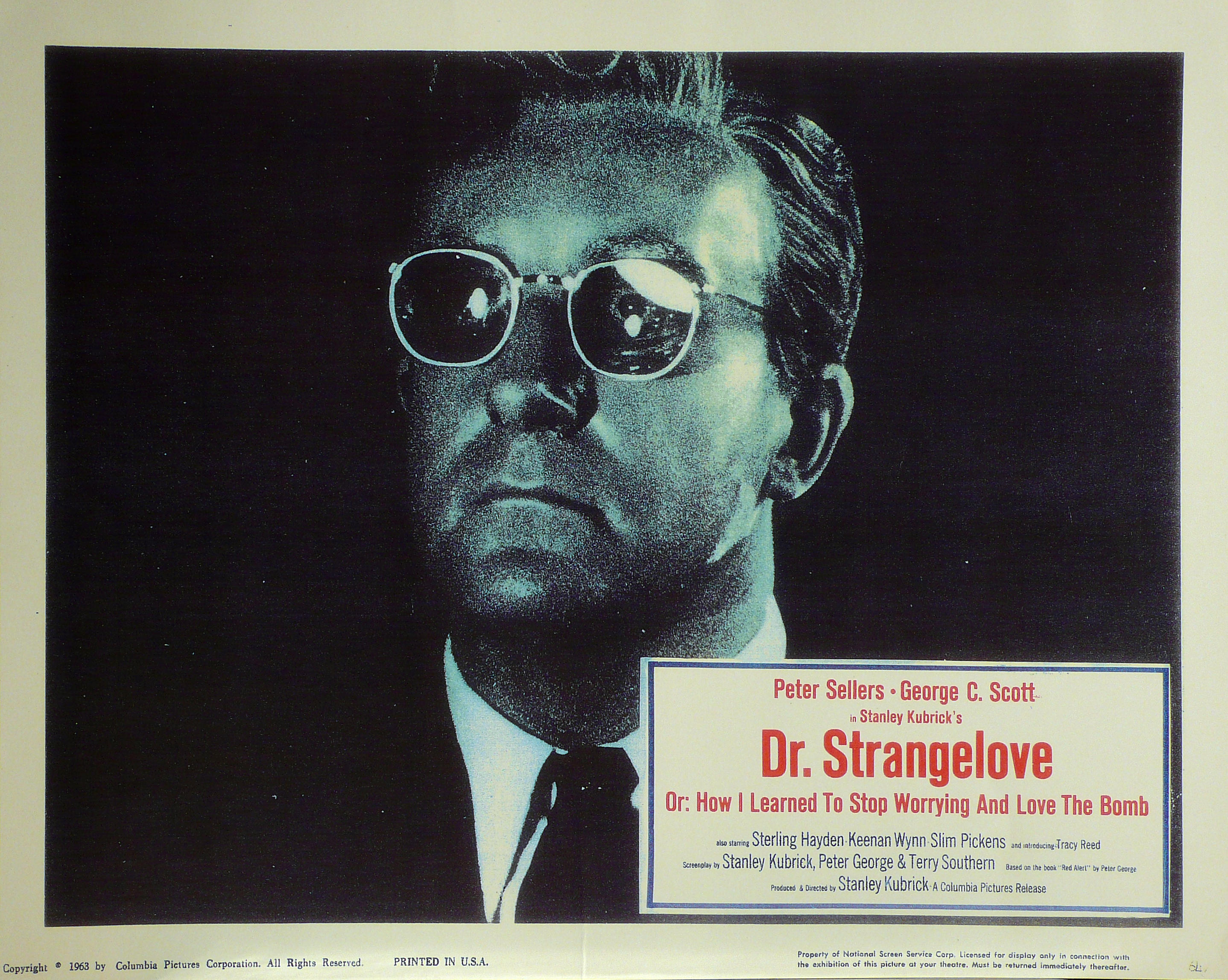 Dr. Strangelove, or How I Learned to Stop Worrying and Love the Bomb (Il dottor Stranamore…) – Lobby Card della prima edizione americana