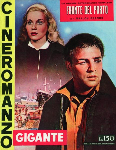 """Fronte del porto di Elia Kazan – Cineromanzo in """"Cineromanzo Gigante"""", n.6, marzo 1955"""