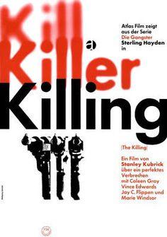 Killing (The Killing) di Stanley Kubrick – Manifesto della riedizione tedesca del 1964