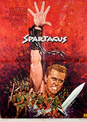 Spartacus di Stanley Kubrick – Manifesto dell'edizione francese 1968