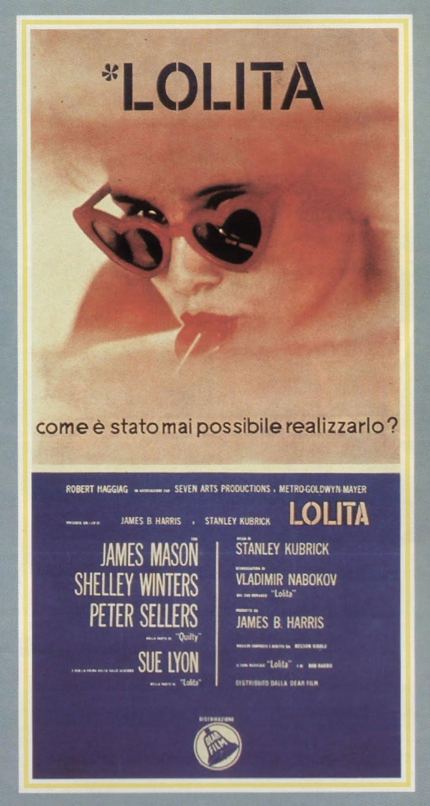 Lolita di Stanley Kubrick – Locandina della prima edizione italiana