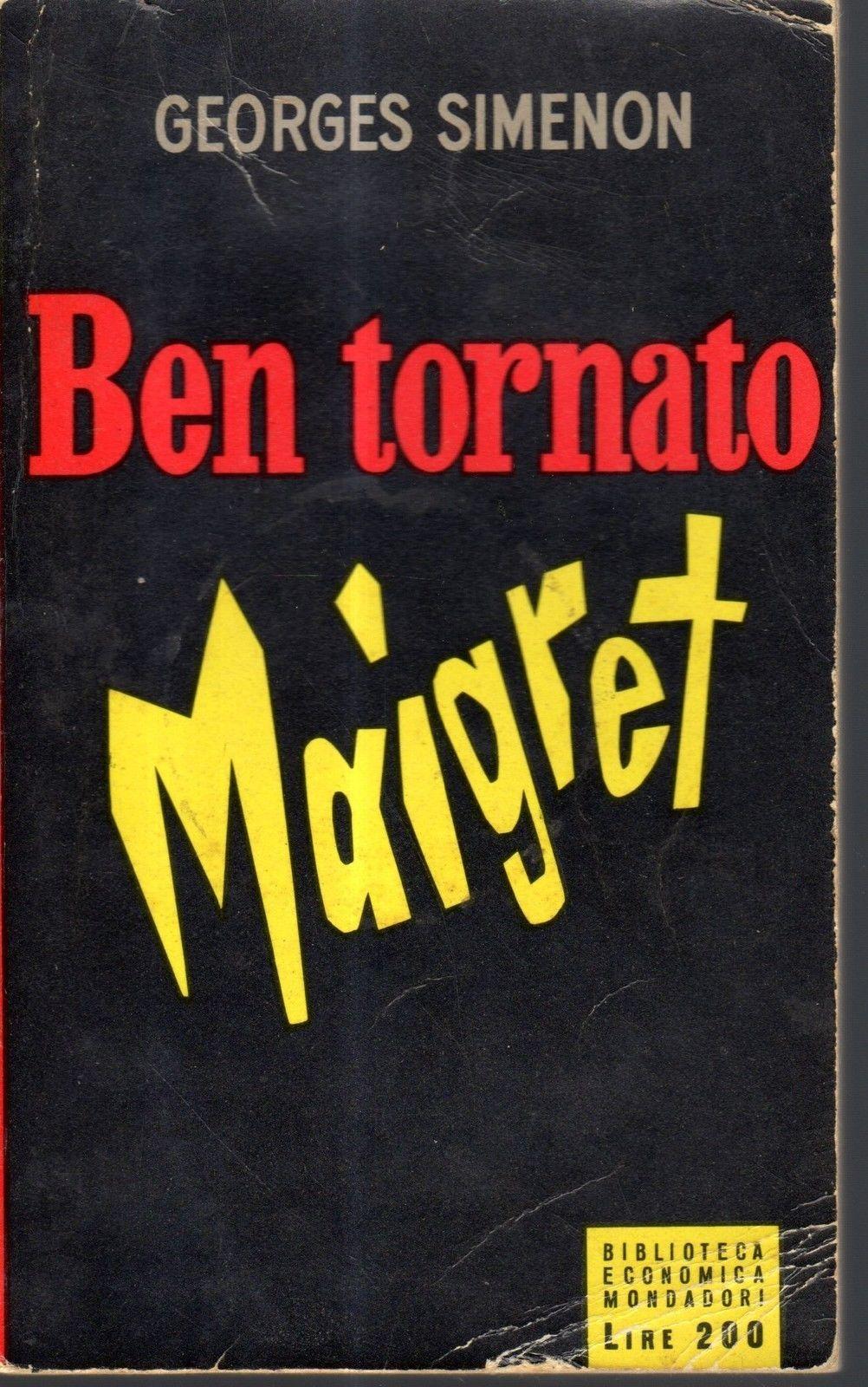 Ben tornato, Maigret (Maigret et son mort) – Prima edizione italiana