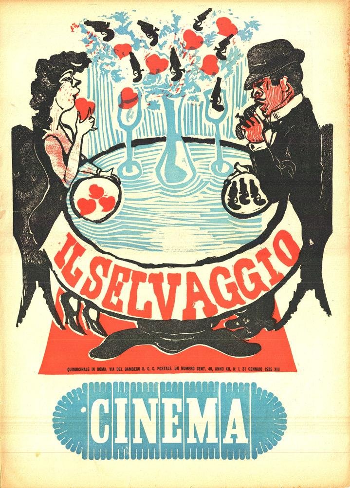 """""""Il Selvaggio"""" di Maccari – Numero monografico: """"Cinema"""", anno XII, n.1, 31 gennaio 1935"""