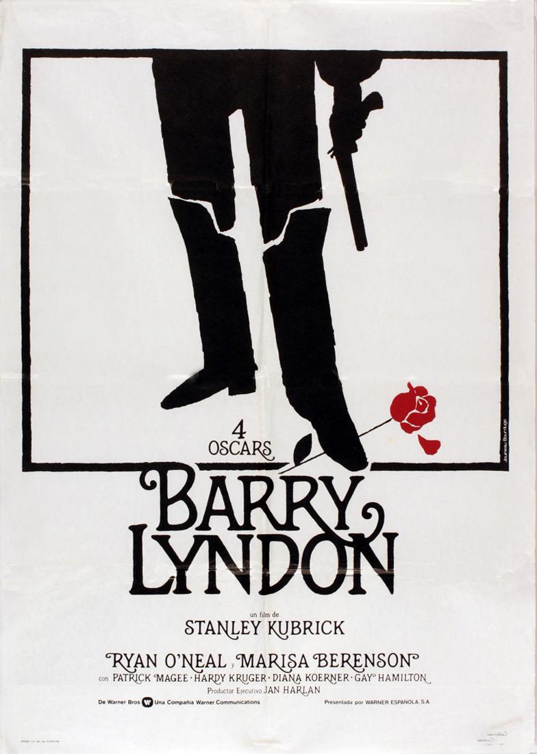 Barry Lyndon di Kubrick – Manifesto della prima edizione spagnola