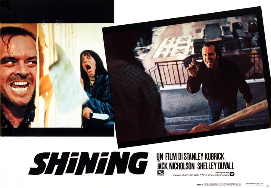 Shining (The Shining) – Fotobusta della prima edizione italiana (Jack Nicholson & Shelley Duvall)