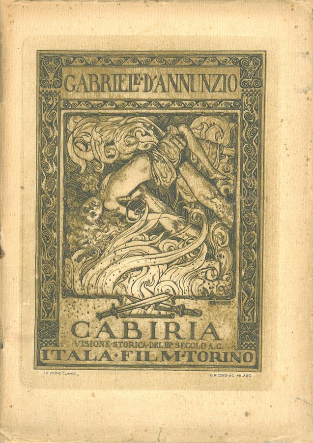 Cabiria. Visione storica del Terzo Secolo A.C. di Gabriele D'Annunzio – Brochure cinematografica (tipo B) del 1914