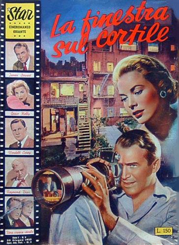 """La finestra sul cortile di Alfred Hitchcock – Cineromanzo in """"Star-Cineromanzo Gigante"""", n.5, 30 giugno 1955"""