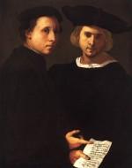 PONTORMO, Double Portrait (Venezia, Collezione Cini)
