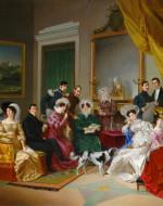 PIETRO AYRES, The La Marmora Family, 1828 (Biella, Collezione La Marmora)