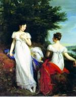 RENE' THEODORE BERTHON, Pauline Borghese and the Baronne de Mathisse (Ravenna, Collezione Spalletti)