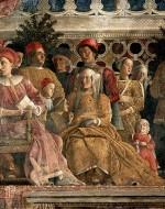 ANDREA MANTEGNA, Ludovico III Gonzaga among his Relatives, 1471-4 (Mantova, Palazzo Ducale - Camera degli Sposi)