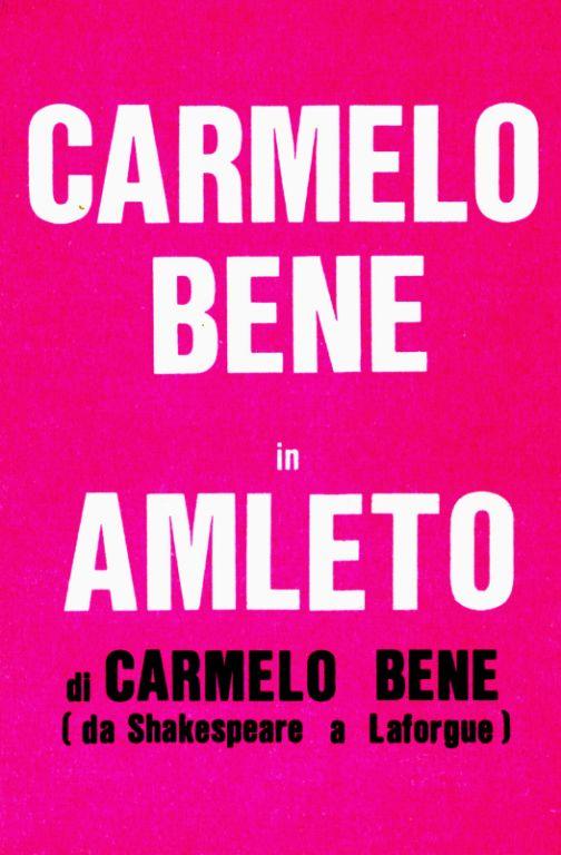 Amleto di Carmelo Bene (da Shakespeare a Laforgue) – Programma di sala del 1975