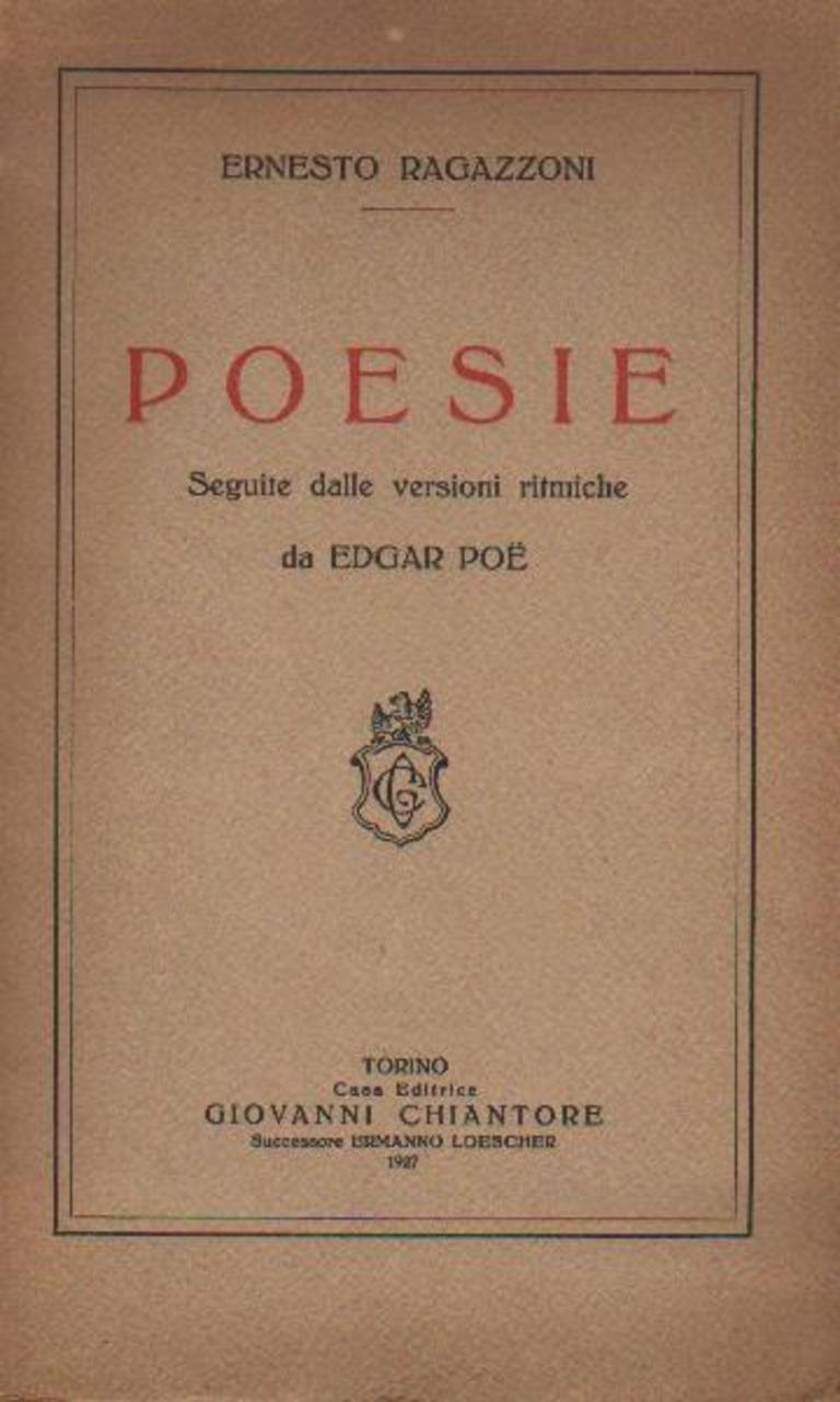 Poesie e versioni da Edgar Allan Poe di Ernesto Ragazzoni -1927