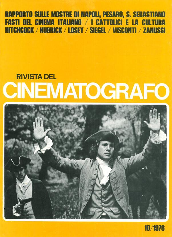 """Barry Lyndon di Kubrick – Recensione in """"Rivista del Cinematografo"""", anno 49, n.10, ottobre 1976"""