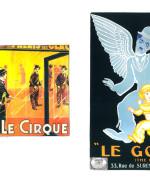 "Manifesto di Roger Soubie, ""Le Cirque"" (""The Circus""), 1928  / Manifesto di Jean Carlu, ""Le Gosse"" (The Kid""), 1921"