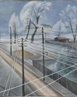 "Alexander Kanoldt, ""Telegraph Wires"" (1921)"