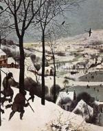 """""""Cacciatori durante l'inverno (Gennaio)"""" (1565) di Pieter Bruegel"""