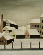 """Carl Grossberg, """"Fabriklandschaft im Schnee"""" (1923)"""