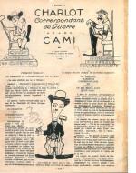 """Rivista """"La Baionnette"""" con caricature di Charlot realizzate da Cami"""
