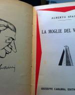 Ritratto di Alberto Spaini, pubblicato a lato del frontespizio di una sua commedia pubblicata in Italia