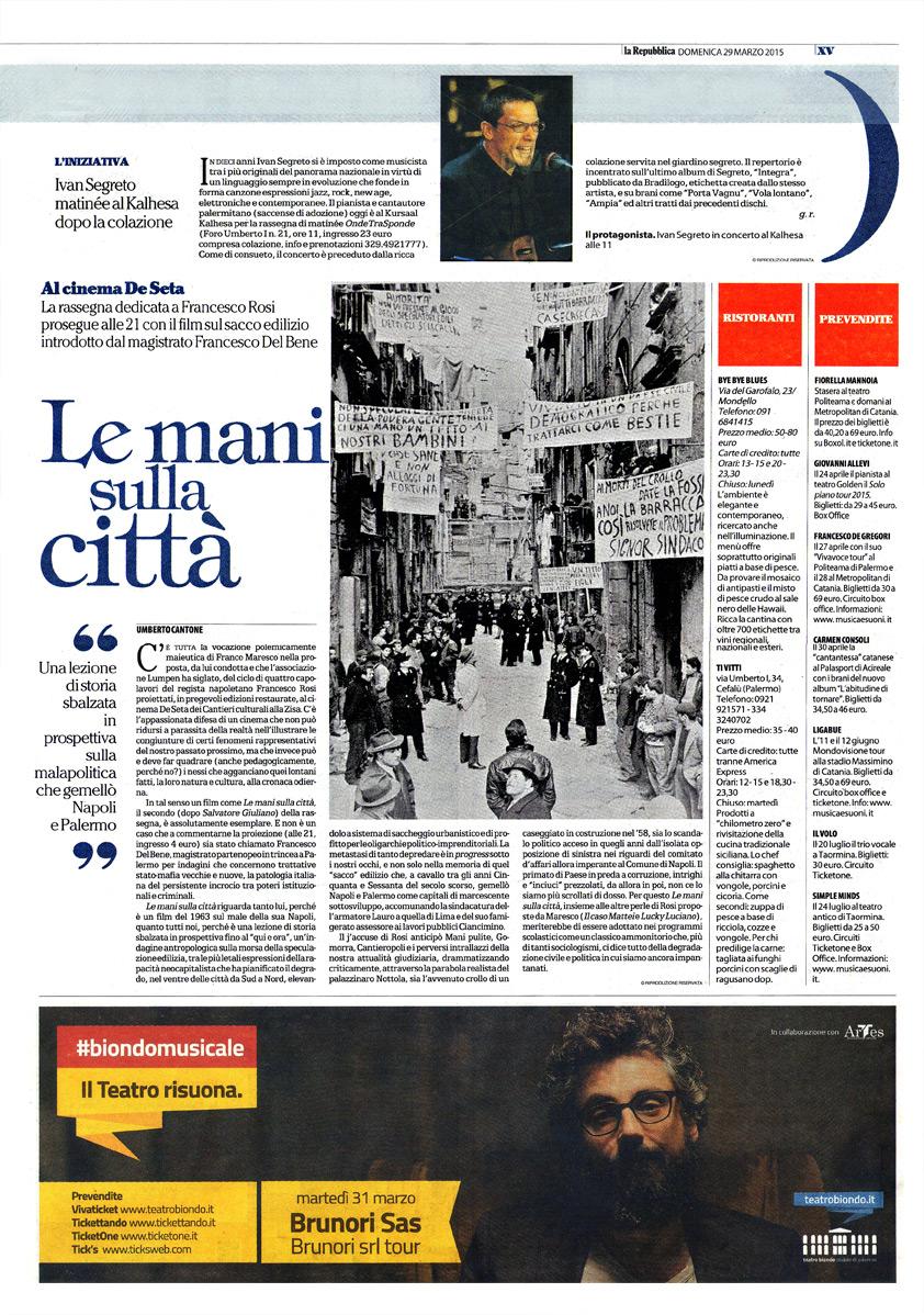 Le mani sulla città – La lezione di storia di Francesco Rosi
