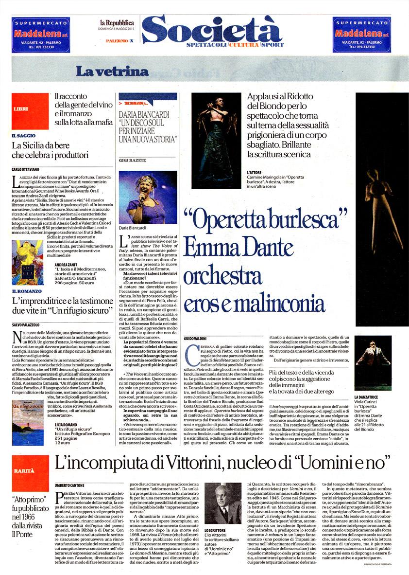 """L'incompiuta di Vittorini, nucleo di """"Uomini e no"""""""