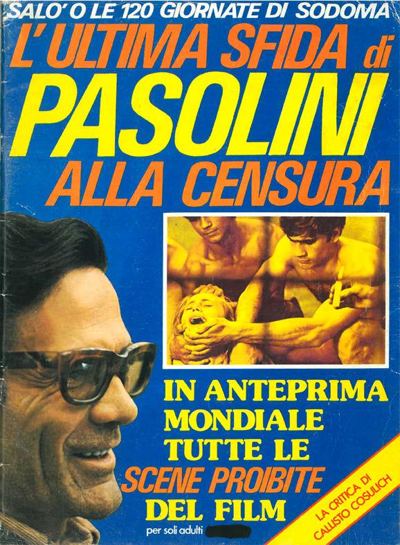"""Salò o le 120 giornate di Sodoma. L'ultima sfida di Pasolini alla censura – Supplemento a """"Vacanze Turismo Caravanning"""", anno 1, n. 10, dicembre 1975"""