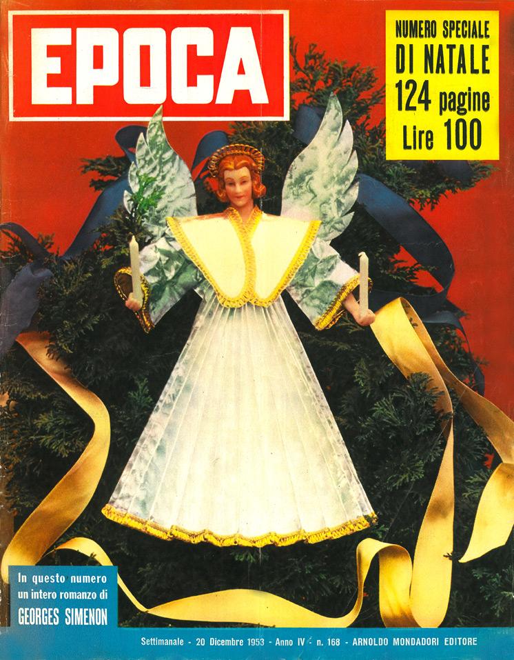 """Un Natale di Maigret (Un Noel de Maigret) racconto di Georges Simenon – Prima edizione italiana in """"Epoca"""", Anno IV, n.168, 20 dicembre 1953"""