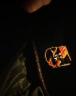 INT. QUARTIER GENERALE DI KURTZ - GIORNO. WILLARD è davanti a un tavolo su cui si trovano gli oggetti di KURTZ. Guarda l'uniforme, le decorazioni militari, le fotografie di famiglia, una Bibbia e altri libri.
