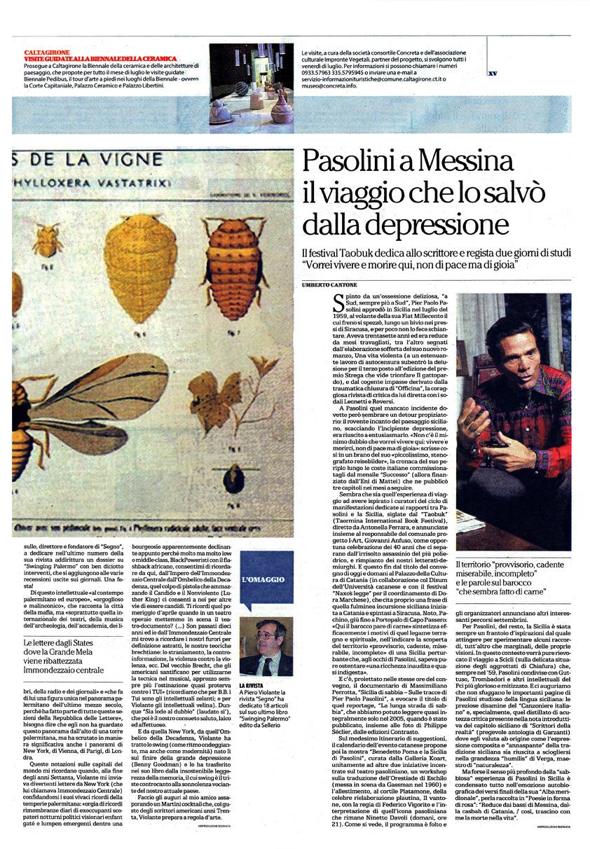 Pasolini a Messina. Il viaggio che lo salvò dalla depressione