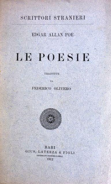 Le poesie di Edgar Allan Poe – Edizione Laterza & Figli 1912