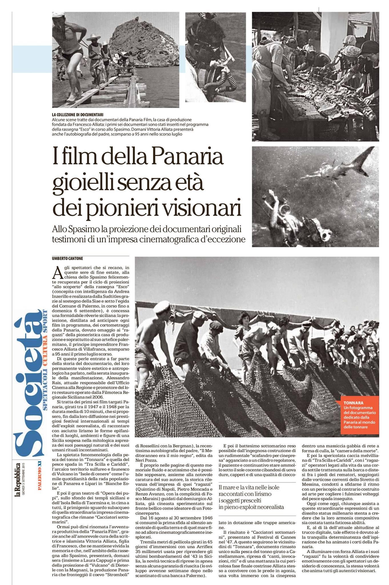 I film della Panaria, gioielli senza età dei pionieri visionari