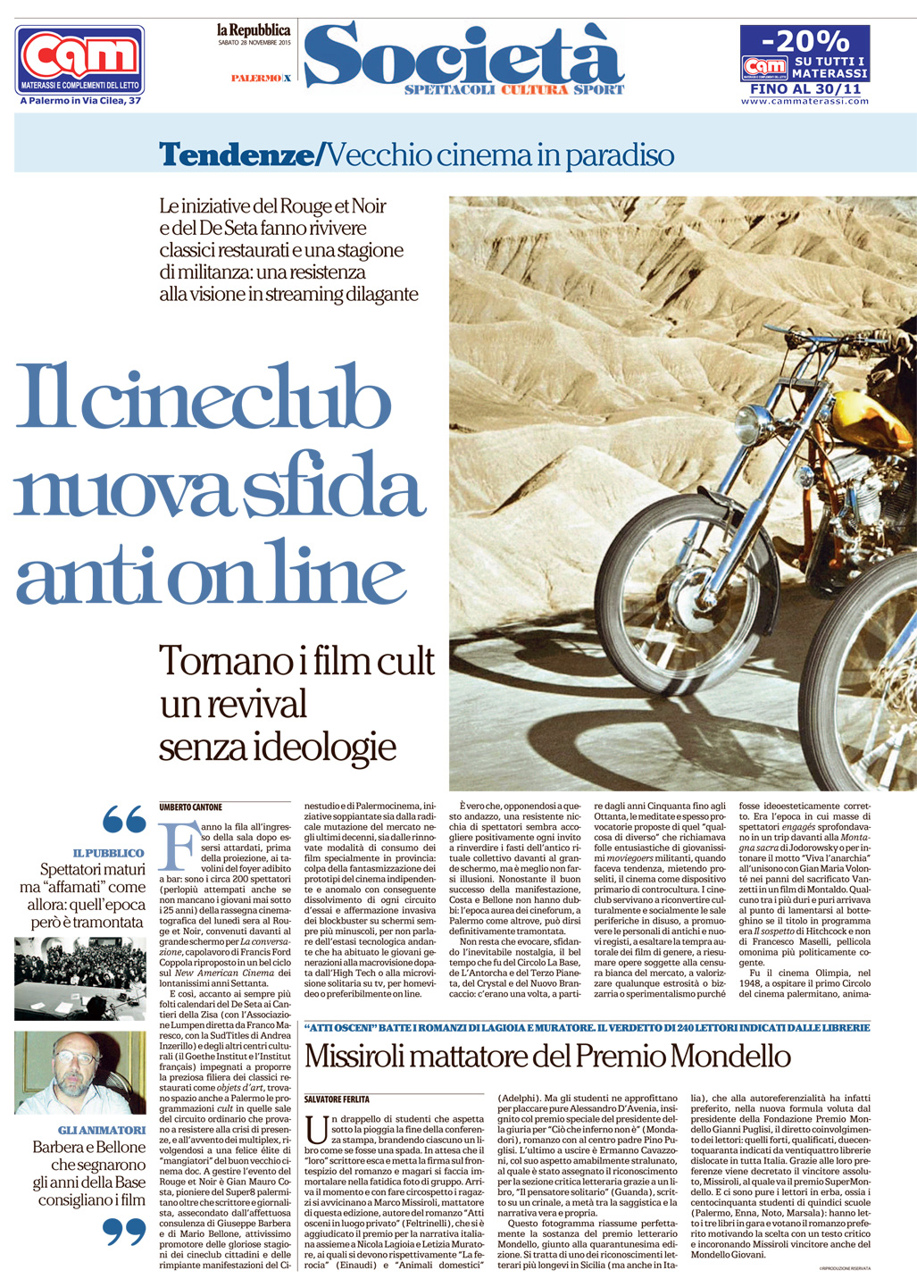 Il cineclub nuova sfida anti on line