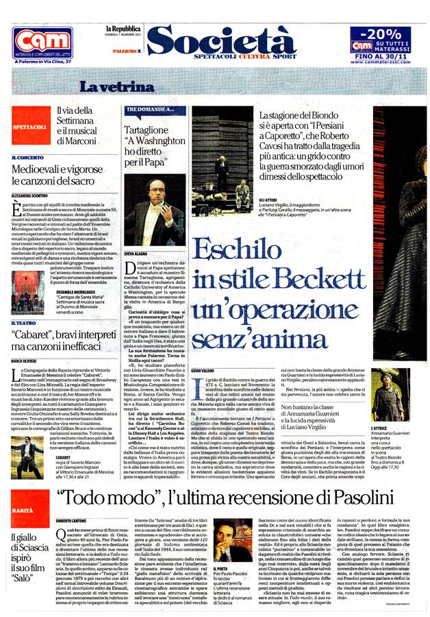 """""""Todo modo"""", l'ultima recensione di Pasolini"""