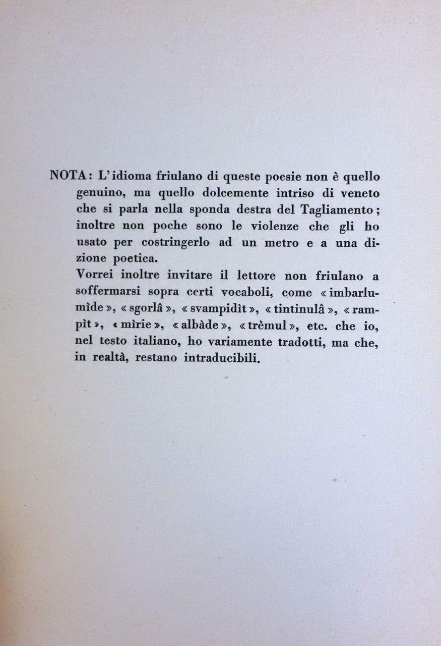 Ben noto Poesie a Casarsa di Pier Paolo Pasolini – Prima edizione 1942  SM25