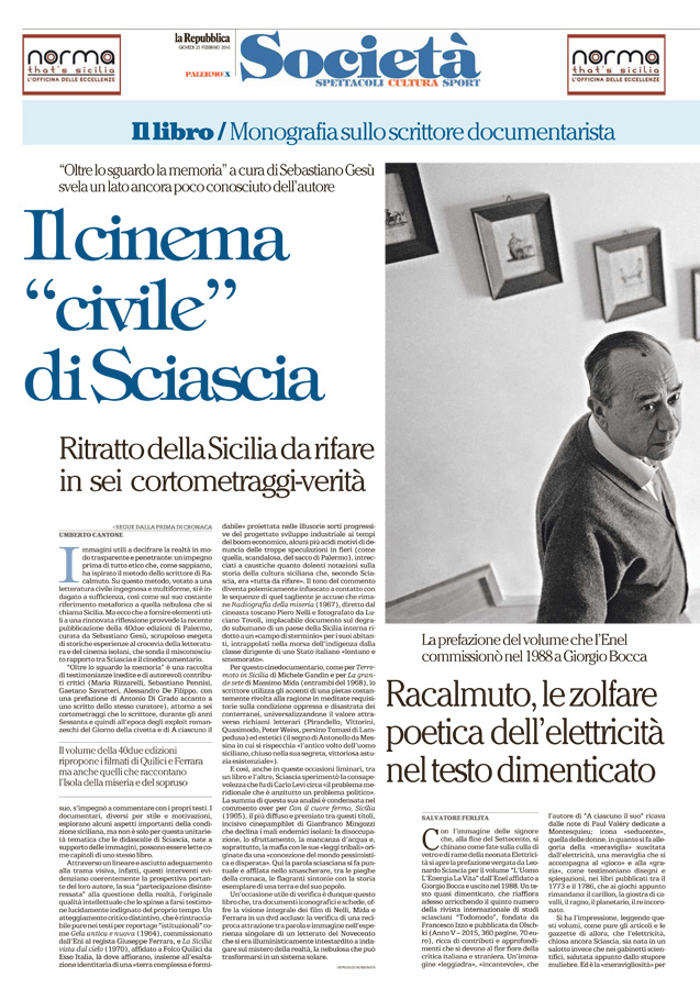 "Il cinema ""civile"" di Sciascia"