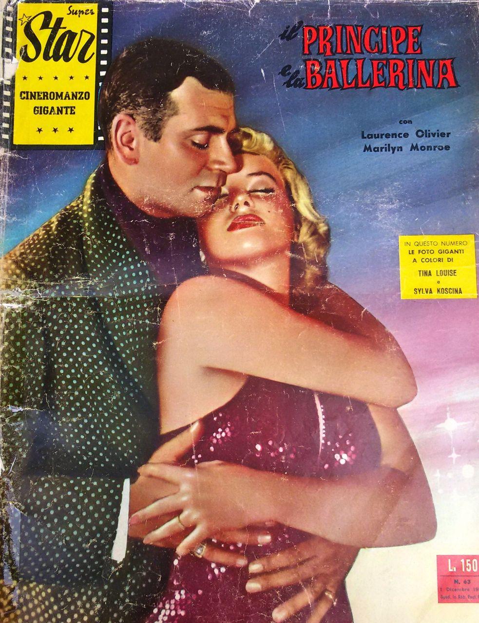 """Il principe e la ballerina di Laurence Olivier – Cineromanzo in """"Superstar – Cineromanzo Gigante"""", n. 63, 1 dicembre 1959"""