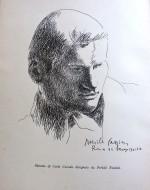 Ritratto di Carlo Cassola disegnato da Pericle Fazzini