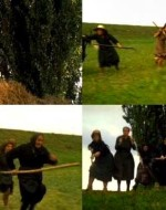 Attila e Regina scappano abbandonando le biciclette. Alcune donne agguantano Regina. Attila reagisce sparando meccanicamente, senza mirare. Anita e le altre raggiungono anche lui.